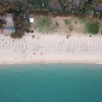 Sayonara Club Hotel Village aerial view of the beach