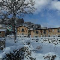 Borgo Donna Teresa snow-covered structure