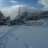 Borgo Donna Teresa snowy entrance